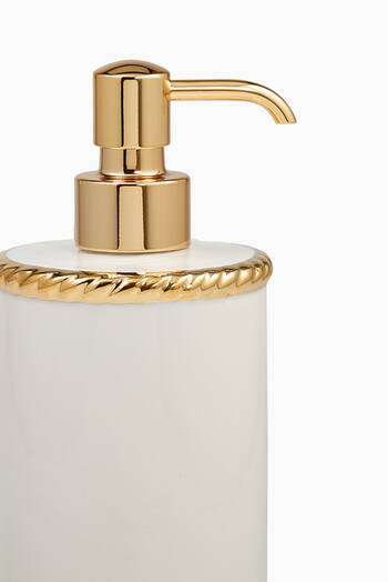 hover state of White & Gold Rope Lotion Dispenser