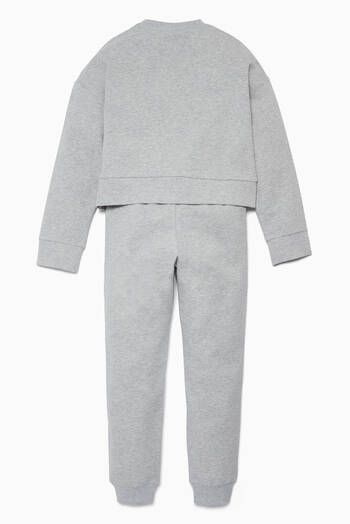hover state of Grey Sweater & Track Pants Set