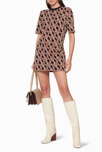 hover state of Turbulence Lurex Knit Dress
