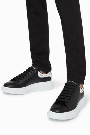 hover state of Oversized Leather Sneakers
