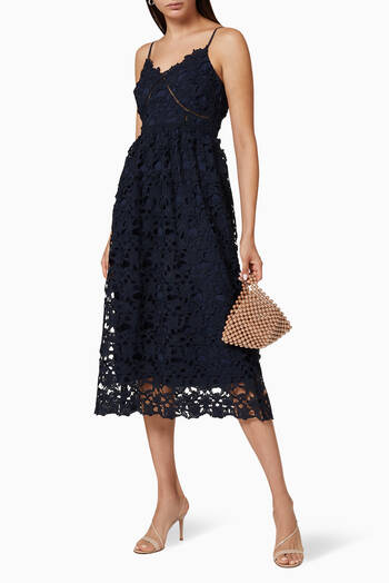 hover state of Yasulie Lace Midi Dress