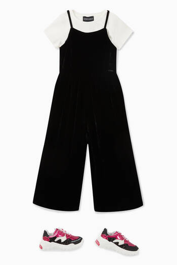 hover state of Chenille Silk Wide-Leg Jumpsuit