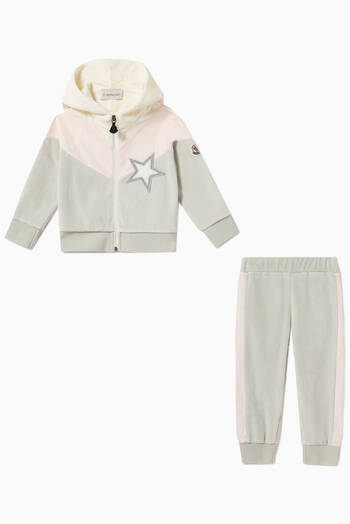 hover state of Hooded Sweatshirt & Sweatpants Chenille Set