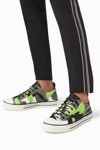 hover state of Valentino Garavani VLTN Camouflage Sneakers in Canvas