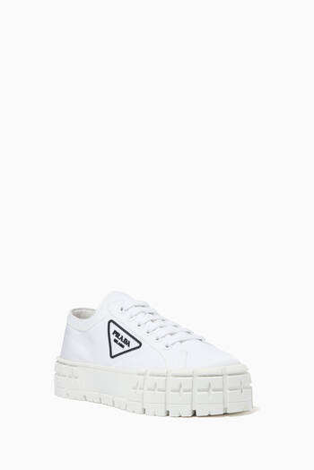 hover state of Triangle Logo Wheel Sneakers in Nylon Gabardine