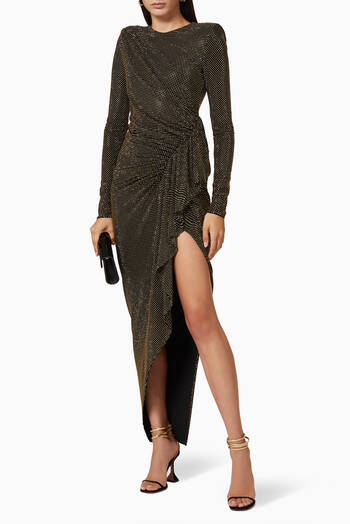 hover state of Studded Jersey Long Dress