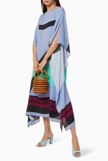 hover state of Pompe Scarf Maxi Dress