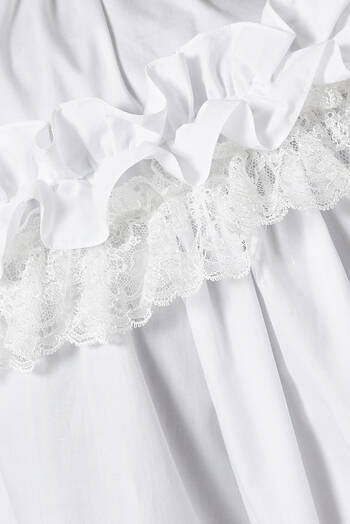 hover state of Ruffled Cotton Poplin Top