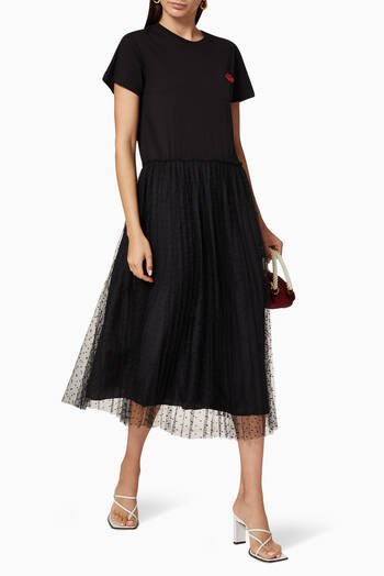 hover state of Jersey Tulle T-Shirt Dress