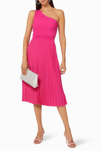 hover state of Miriom Asymmetric Knitted Midi Dress