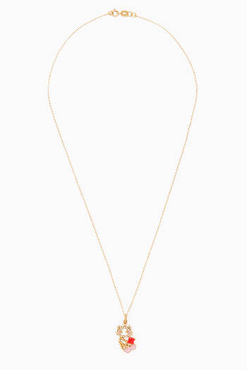 hover state of Maya & Friends Diamond Pendant in 18kt Yellow Gold