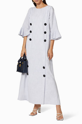 hover state of Buttoned Linen Dress