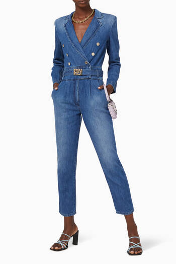 hover state of Perry Denim Jumpsuit