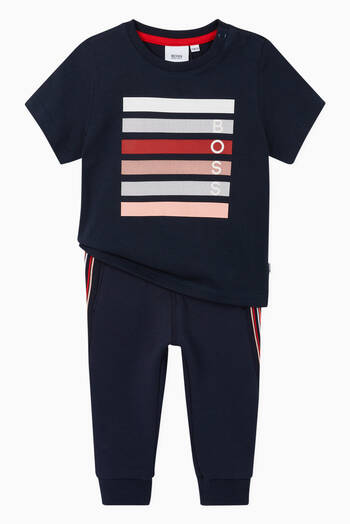 hover state of Striped Cotton Sweatpants