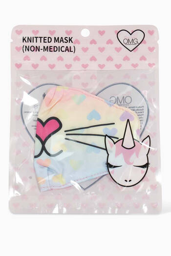 hover state of Miss Bella Kitty Ombre Heart Face Mask