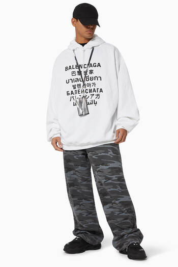 hover state of Languages Sport Fit Hoodie in Organic Light Fleece