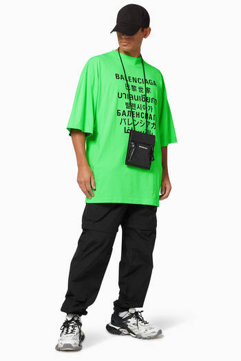 hover state of Languages XL Fit T-Shirt in Cotton Jersey