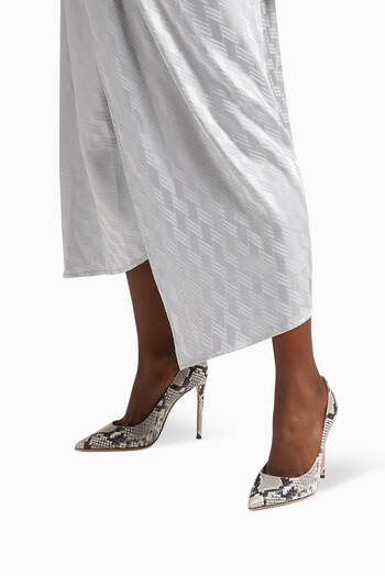 hover state of Fancy 105 Snake Print Pumps in Calf Leather