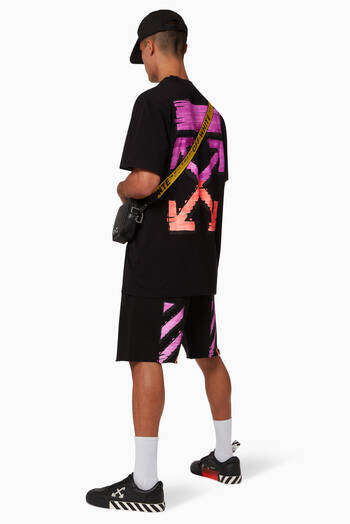 hover state of Marker Diagonal Cotton Sweatshorts