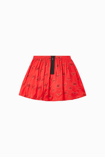 hover state of Bulls and Elephant Print Skirt