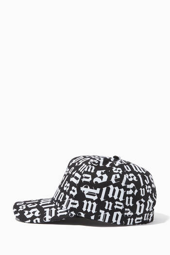 hover state of Broken Monogram Baseball Cap in Cotton