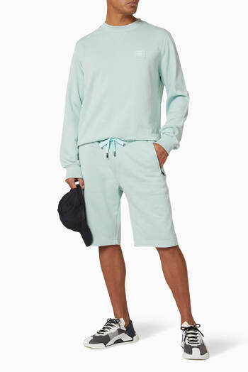 hover state of Cotton Jersey Jogging Shorts with DG Patch