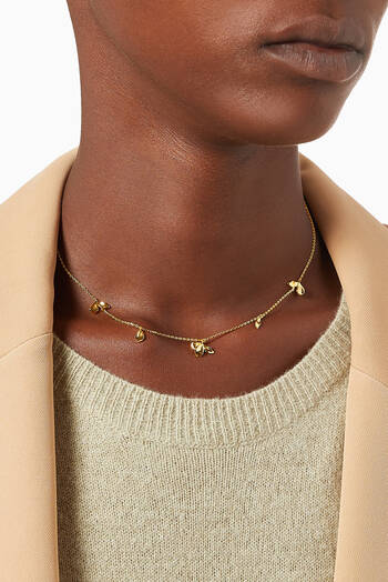 hover state of Jasmine Necklace in 18kt Gold Plating