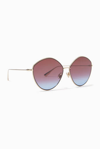hover state of DiorSociety 4 Sunglasses in Metal