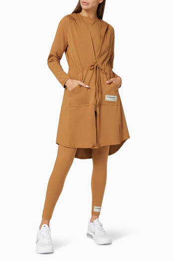 hover state of Softskin Recycled Longline Modest Jacket