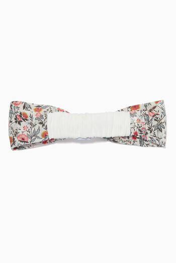 hover state of Floral Bow Jersey Headband