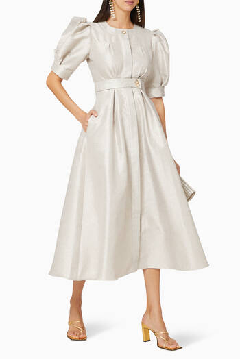 hover state of Textured Belted Dress