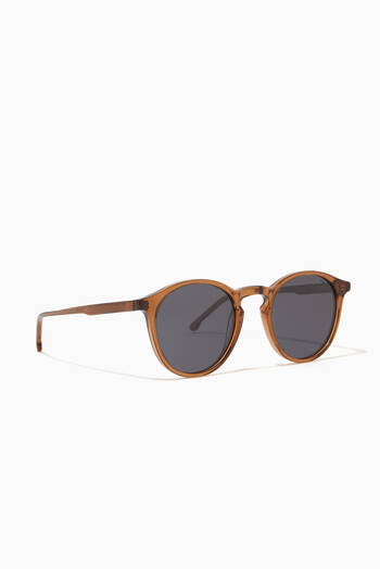 hover state of Aston Grand Round Frame Sunglasses in Acetate