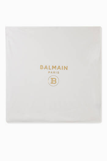 hover state of Balmain Logo Cotton Blanket