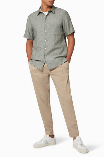 hover state of Curtis Pants in Eco Linen-Viscose Blend