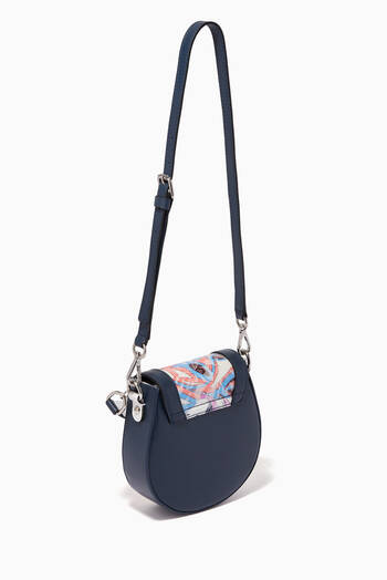 hover state of Samoa Print Lace Shoulder Bag in Leather