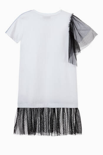 hover state of Logo Mesh Jersey T-Shirt Dress