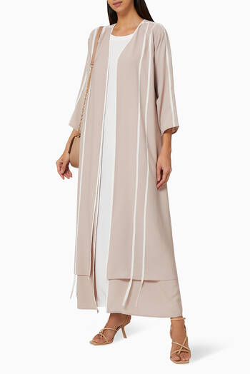 hover state of Abaya with Two Sided Inner Dress