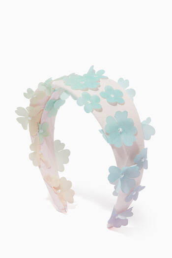 hover state of Floral Applique Headband