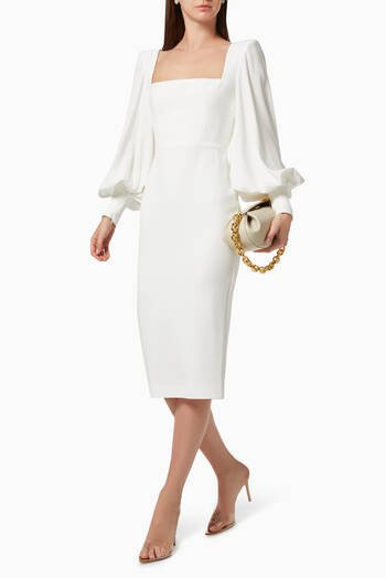 hover state of Pearson Portrait Dress in Satin Crepe