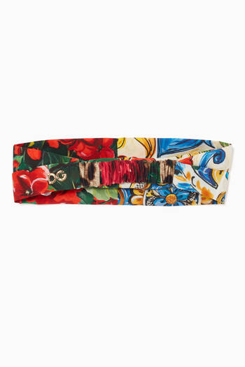 hover state of Bandana in Majolica and Floral Patchwork Cotton