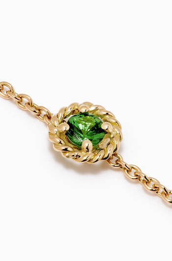 hover state of Salasil Bracelet with Tsavorite in 18kt Yellow Gold