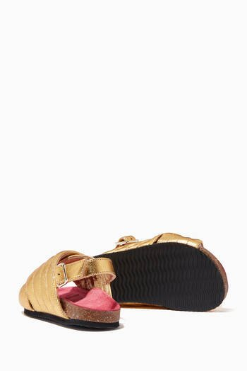 hover state of Billie Jean Sandals in Metallic Leather