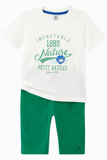 hover state of Jersey Bermuda Shorts in Cotton