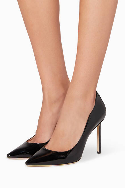 hover state of Black Patent Romy Pumps