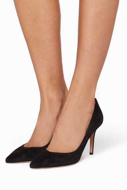 hover state of Black Suede Pumps