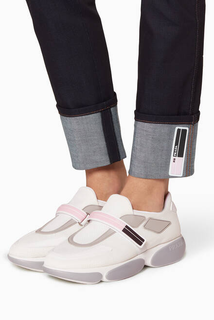 hover state of White Cloudbust Sneakers