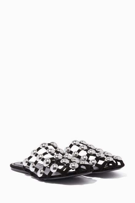 bfede0ab5 تسوق حذاء كايا مفتوح من الخلف جلد العجل وكلوريد متعدد الفينيل ...