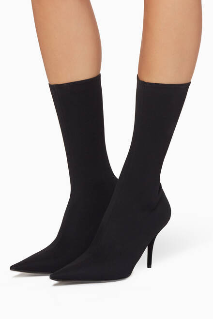 hover state of Black Knife Spandex Ankle Boots