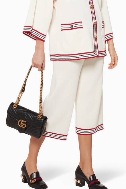 hover state of Black Small GG Marmont 2.0 Matelassé Shoulder Bag