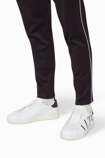 hover state of Valentino Garavani White VLTN Leather Sneakers